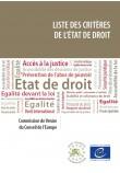 PDF - Liste des critères de l'Etat de droit