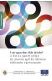 PDF - A qui appartient-il de décider? Le droit à la capacité juridique des personnes ayant des déficiences intellectuelles et psychosociales